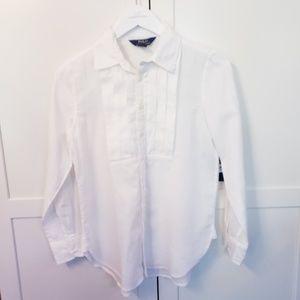 Nwt polo Ralph Lauren girls 12 white shirt